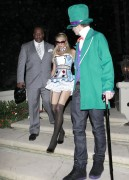 Paris Hilton at a Halloween party in Beverly Hills - October 26, 2012