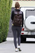 Maria Menounos - booty in tights at a gym in Los Angeles 11/16/12