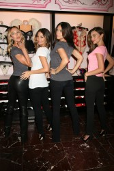 Adriana Lima, Candice Swanepoel, Lily Aldridge & Miranda Kerr @ 2012 Victoria's Secret Angel Holiday celebration, NY, 19.11.12 - 8HQ
