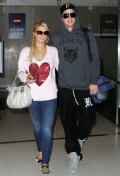 Paris Hilton - arrives at LAX Airport 1/1/13