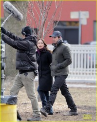 Kristin Kreuk - on the set of 'Beauty and the Beast' in Toronto 3/25/13
