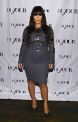 Kim Kardashian - DuJour Magazine party in NYC 3/27/13