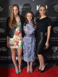 Sophie Turner, Maisie Williams &amp;amp; Natalie Dormer - 'Game of Thrones' The Exhibition Opening in NYC 3/27/13