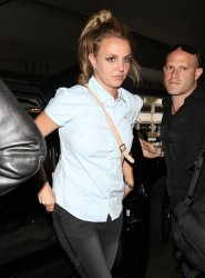 Britney Spears - at LAX Airport 3/28/13