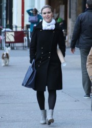 Julia Stiles - out in NY 3/27/13