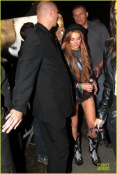 Lindsay Lohan - leaving a nightclub in Sao Paulo 3/29/13
