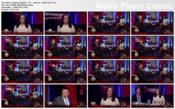 ANDREA TANTAROS legs - red eye - dec 21, 2011