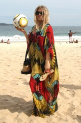Fergie - At the beach in Rio De Janeiro 4/4/13