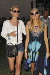 Paris & Nicky Hilton - 2013 Coachella Valley Music & Arts Festival in Indio 4/14/13