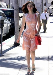 Emmy Rossum - out in Beverly Hills 4/16/13