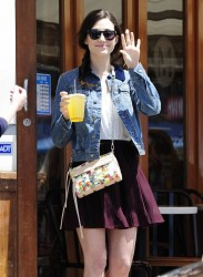 Emmy Rossum - Stopping by M Cafe in Hollywood 4/23/13