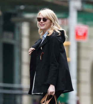 Emma Stone out in NY April 23 HQ's
