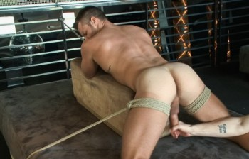 DataFile - Muscled bartender gets taken down, bound and edged