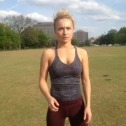 Hayden Panettiere Playing Catch at a Park in Nashville - April 23, 2013