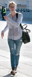 January Jones - at JFK Airport in NYC 4/25/13