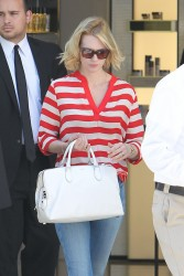January Jones - out in LA 4/26/13