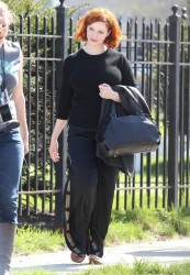 Christina Hendricks - on the set of 'How to Catch a Monster' in Detroit 5/2/13