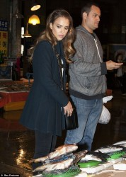 Jessica Alba - out in Seoul, South Korea 5/2/13