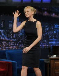 Carey Mulligan - visits Late Night with Jimmy Fallon in NYC 5/3/13