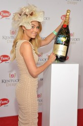 Lauren Conrad - signs the Moet & Chandon 6L at the Kentucky Derby 5/4/13