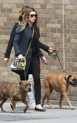 Jessica Biel - out in NYC 5/6/13