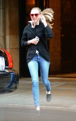 Amanda Seyfried - leaves her apartment in NYC 5/7/13