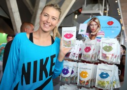 Maria Sharapova - visits the Sugarpova stand at the Mutua Madrid Open 5/8/13