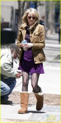 Emma Stone - on the set of 'The Amazing Spider-Man 2' in NYC 5/5/13