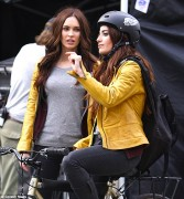 Megan Fox - On the set of TMNT in NYC 5/8/13