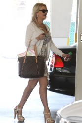 Holly Madison - Arriving to a business meeting in LA 5/9/13