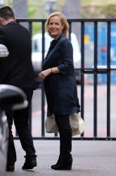 Gillian Anderson - at the London studios 5/10/13