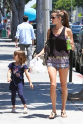 Alessandra Ambrosio - Getting frozen yogurt in Santa Monica 5/13/13