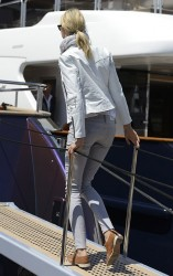 Karolina Kurkova - on Roberto Cavalli's yacht at the Cannes Film Festival 5/17/13