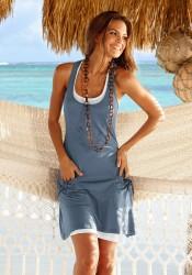 Белое пляжное платье (60 фото легкое, для пляжа, хлопок)