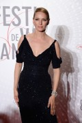 Uma Thurman attends the Palme D'Or Winners dinner during The 66th Annual Cannes Film Festival at Agora in Cannes May 26, 2013