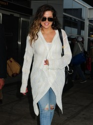 Khloe Kardashian - Arriving to JFK Airport 5/28/13