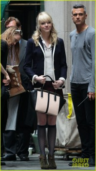 Emma Stone on the set of TASM2 May 29