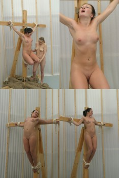 DOWNLOAD from FILESMONSTER:  CruxDreams BDSM BDSM Extreme Torture  CruxDreams   Aerobatic crucifix