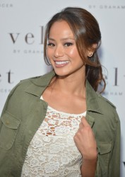 Jamie Chung - Velvet By Graham & Spencer flagship store opening in Brentwood 6/6/13