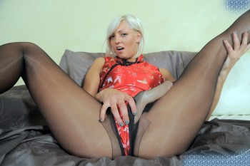 StrapOnCum - 074 Ruby Blond first time Femdom and Strapon