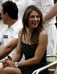 Elizabeth Hurley - at a cricket match in Cirencester 6/9/13