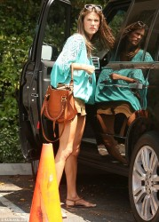 Alessandra Ambrosio - out in Brentwood 6/9/13