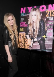 Avril Lavigne - Celebrating her NYLON Magazine Cover in NYC 6/11/13