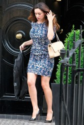 Kelly Brook - leaving her home in London 6/12/13