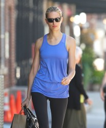 Karolina Kurkova - heads to the gym in NYC 6/12/13