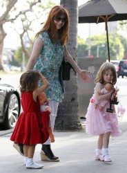Alyson Hannigan - out in Brentwood 6/13/13