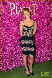 Bar Refaeli - Piaget Rose Day Private Event & Concert in Paris 6/13/13
