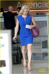 Megan Hilty - at LAX Airport 6/13/13