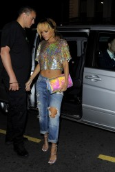 Rihanna - at Boujis in London 6/16/13