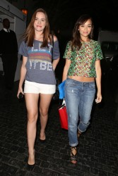 Christa B. Allen & Ashley Madekwe - leave the Chateau Marmont in Hollywood 6/19/13